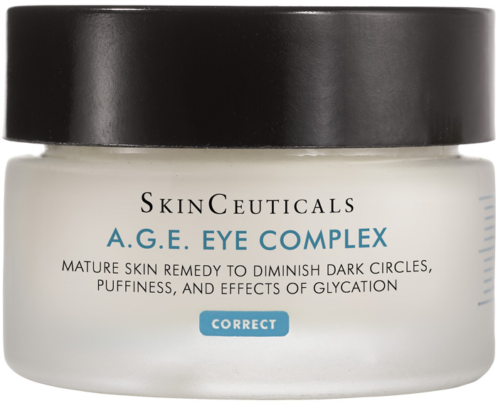 Mature skin remedy to diminish dark circles, puffiness, and effects of glycation